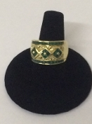 10K Gold/Emerald/Diamond Ring (Ladies)